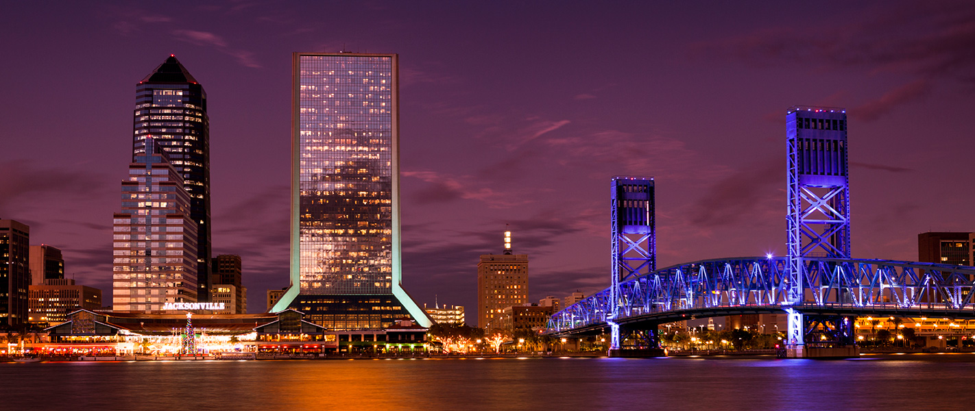 Jacksonville City Skyline at Night