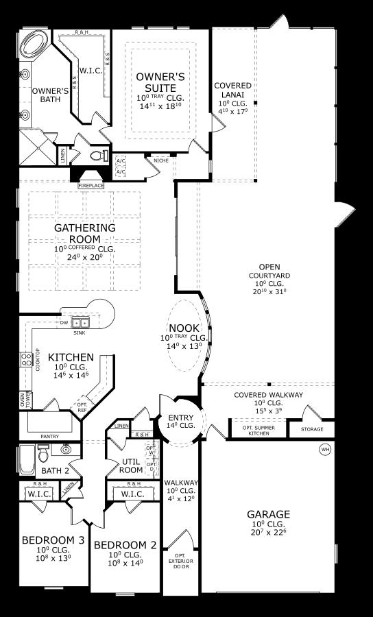 The Scarlett Floorplan at Oakmont
