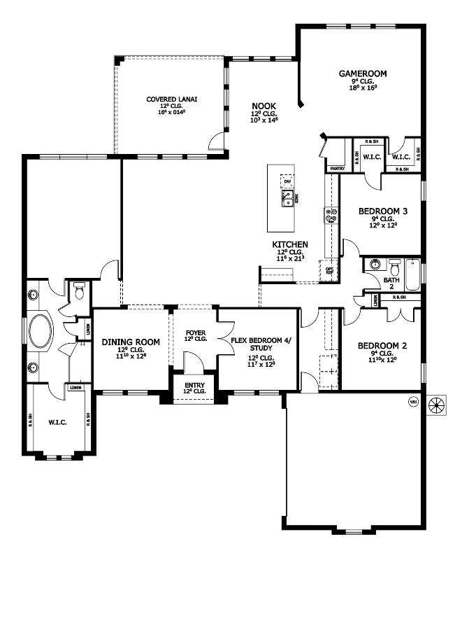 The Camden Floorplan at Plantation Bay