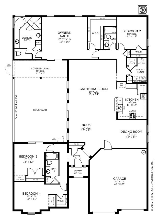 The Brazilia Floorplan at Oakmont