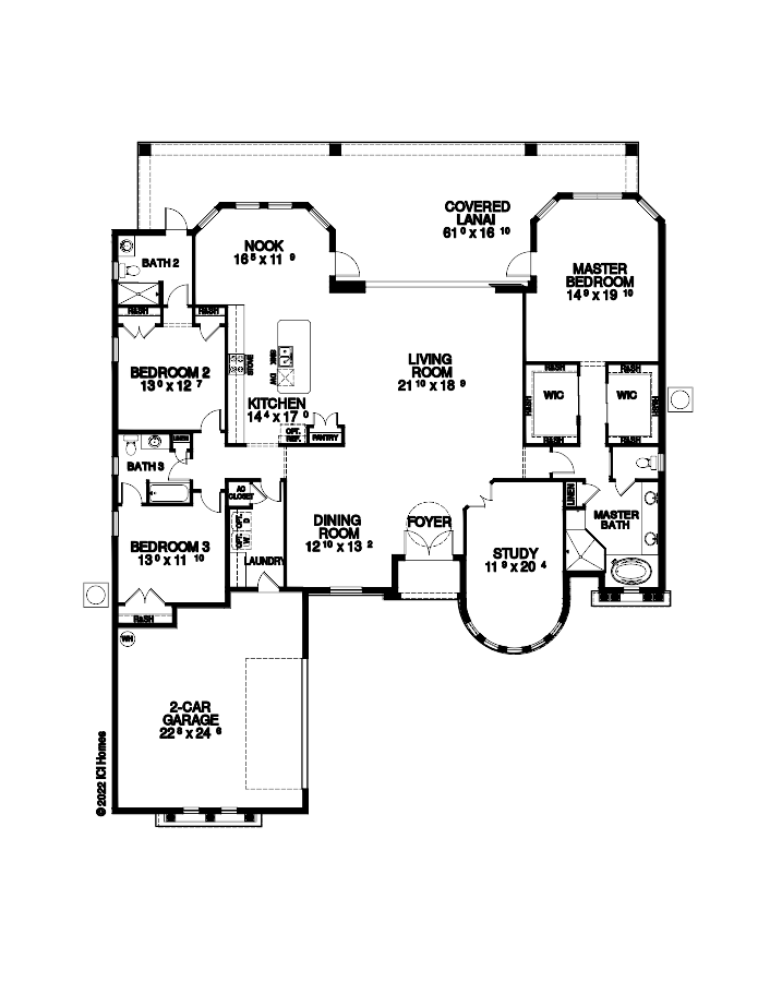 The Egret II Floorplan at Tamaya