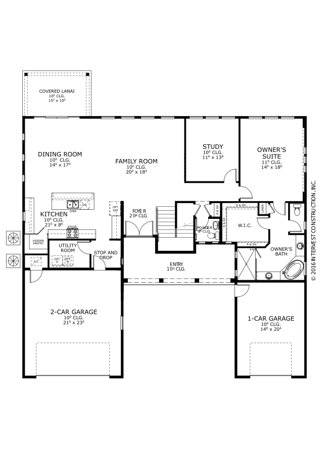 The Marabella Floorplan at Oakmont