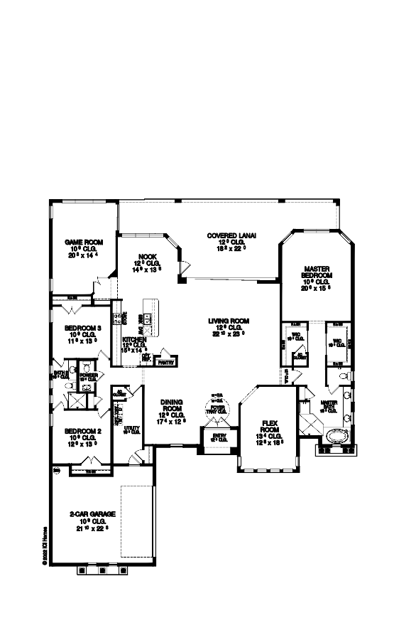 The Isabella Floorplan at Plantation Bay