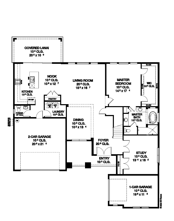 The Brooke Floorplan at Oakmont