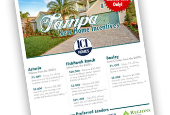 Tampa New Home Incentives